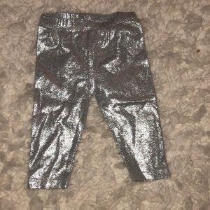 Metallic baby leggings